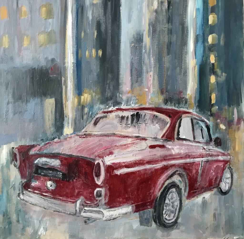 Saskia Stapel car volvo red auto